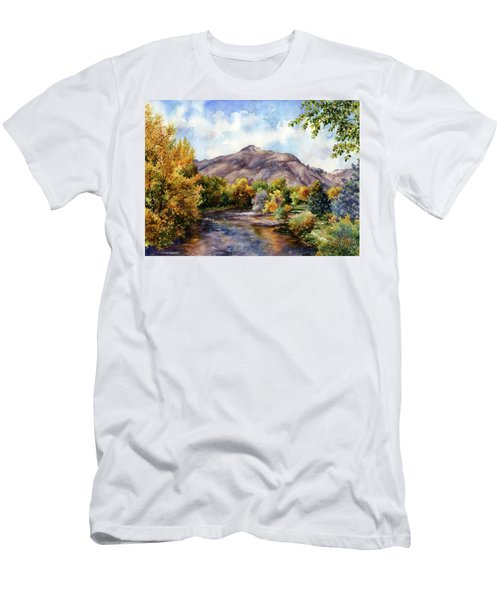 Men's T-Shirt (Slim Fit) featuring the painting Clear Creek by Anne Gifford