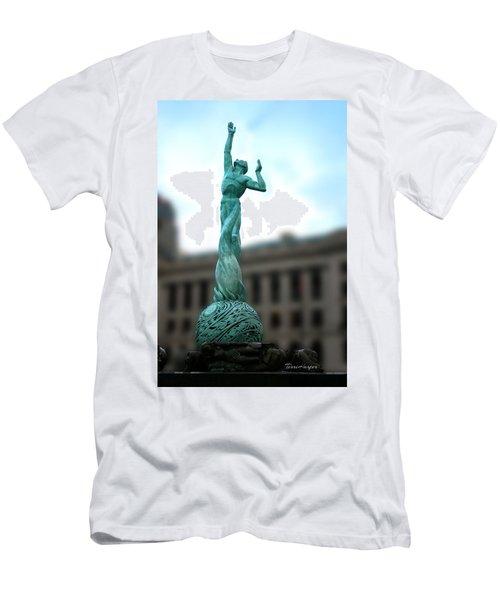 Cleveland War Memorial Fountain Men's T-Shirt (Athletic Fit)