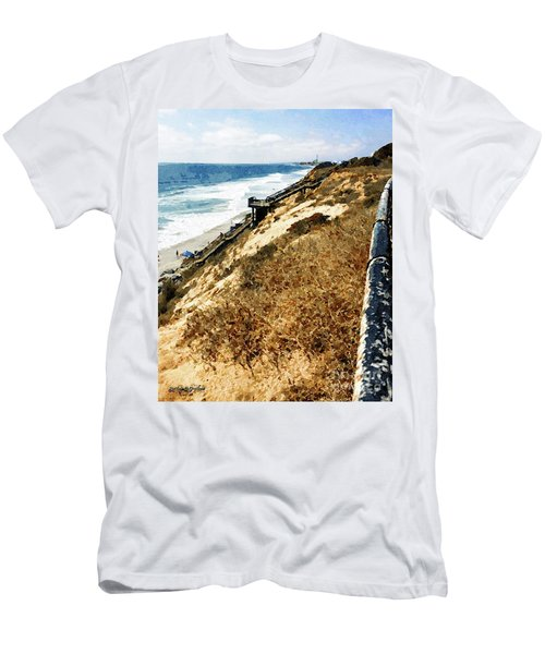 Cliff View - Carlsbad Ponto Beach Men's T-Shirt (Athletic Fit)
