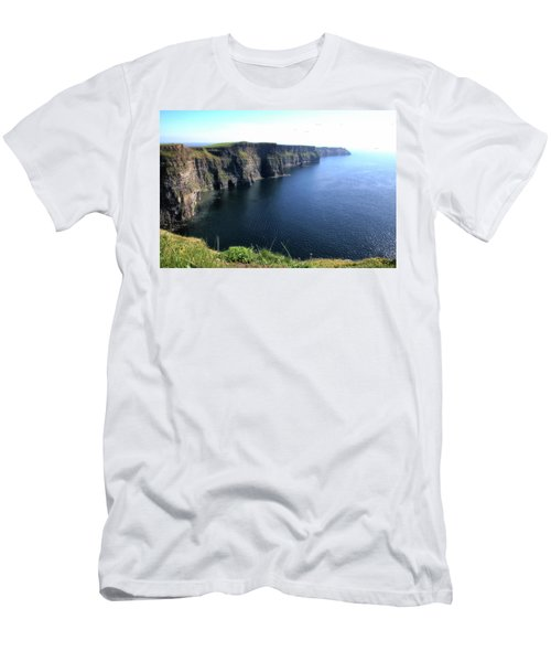 Cliffs Of Moher Men's T-Shirt (Slim Fit) by Catherine Alfidi
