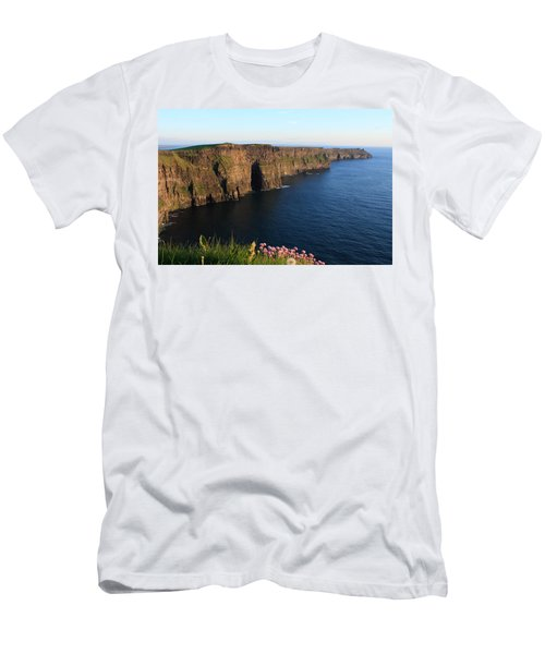 Cliffs Of Moher In Evening Light Men's T-Shirt (Slim Fit) by Aidan Moran