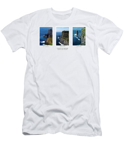 Cliffs Of Moher Ireland Triptych Men's T-Shirt (Athletic Fit)