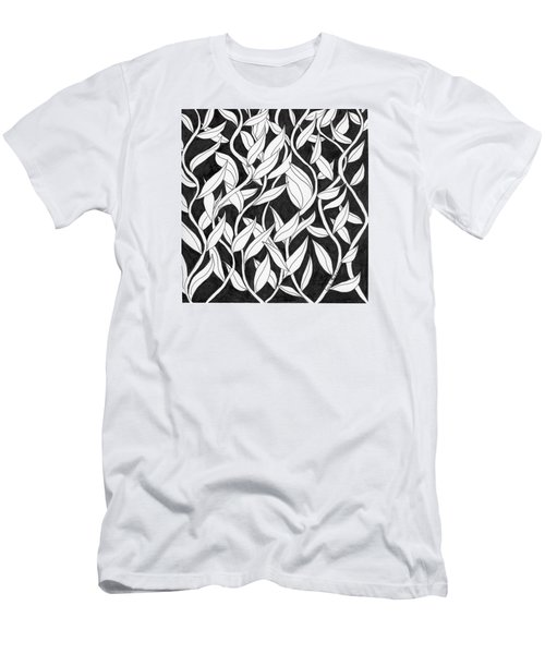Men's T-Shirt (Slim Fit) featuring the painting Climb The Vine by Lou Belcher