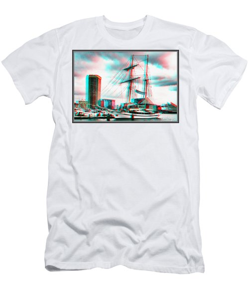 Clipper City - Use Red-cyan 3d Glasses Men's T-Shirt (Athletic Fit)