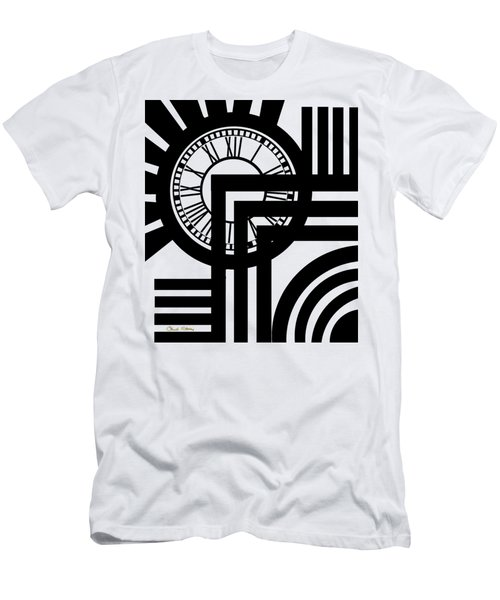 Clock Design Vertical Men's T-Shirt (Athletic Fit)