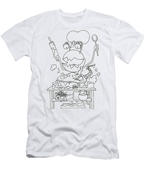 Closet Monster Baking Men's T-Shirt (Athletic Fit)