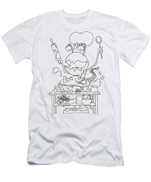 Closet Monster Baking Men's T-Shirt (Athletic Fit)