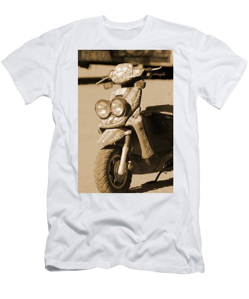 Closeup Of Jesus Scooter In Sepia Men's T-Shirt (Athletic Fit)