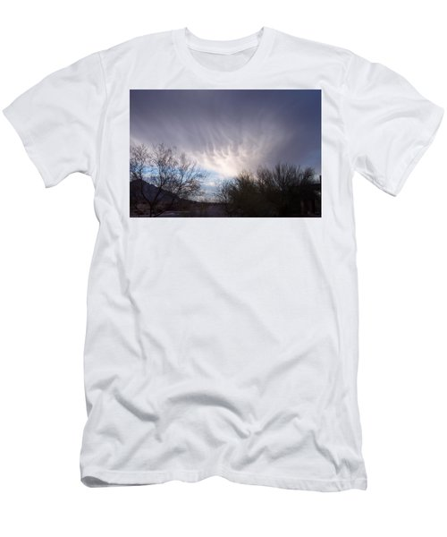 Men's T-Shirt (Slim Fit) featuring the painting Clouds In Desert by Mordecai Colodner