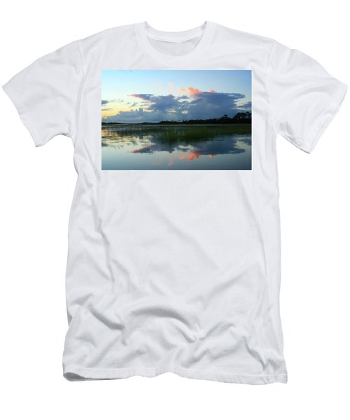 Clouds Over Marsh Men's T-Shirt (Slim Fit) by Patricia Schaefer