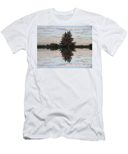 Men's T-Shirt (Slim Fit) featuring the photograph Clouds Up And Down by Christina Verdgeline