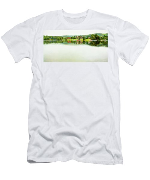 Cloudy Day On The Lake Men's T-Shirt (Athletic Fit)