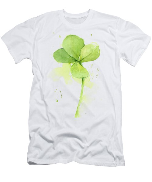 Clover Watercolor Men's T-Shirt (Athletic Fit)