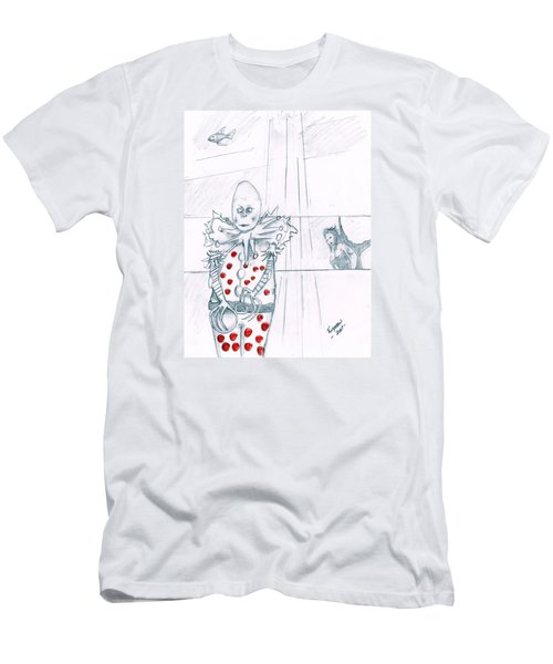 Clown With Crystal Ball And Mermaid Men's T-Shirt (Athletic Fit)