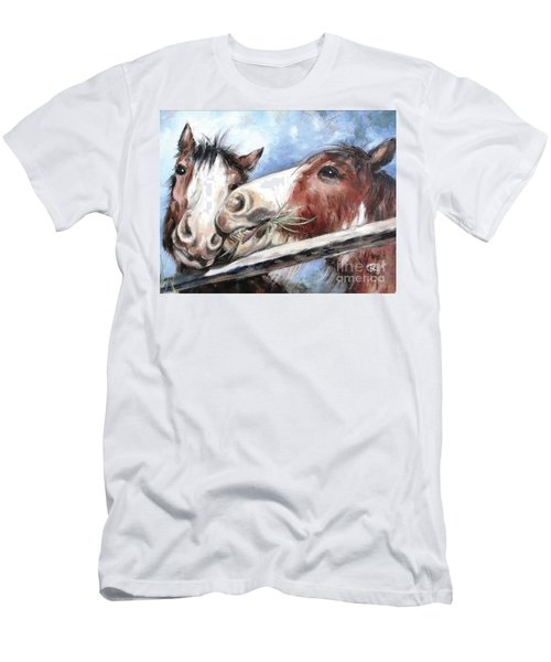Clydesdale Pair Men's T-Shirt (Athletic Fit)