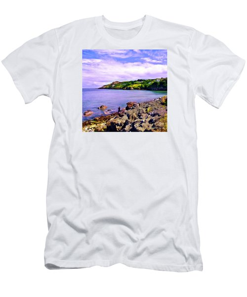 Rocky Coast At Howth Men's T-Shirt (Slim Fit) by Judi Bagwell