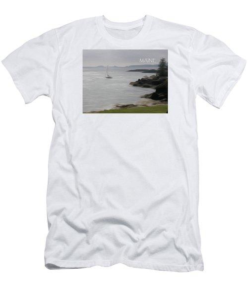 Coastal Maine Men's T-Shirt (Slim Fit) by Jewels Blake Hamrick