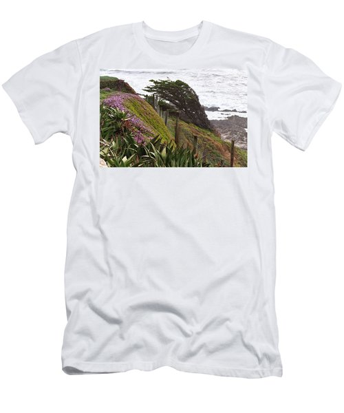 Coastal Windblown Trees Men's T-Shirt (Athletic Fit)