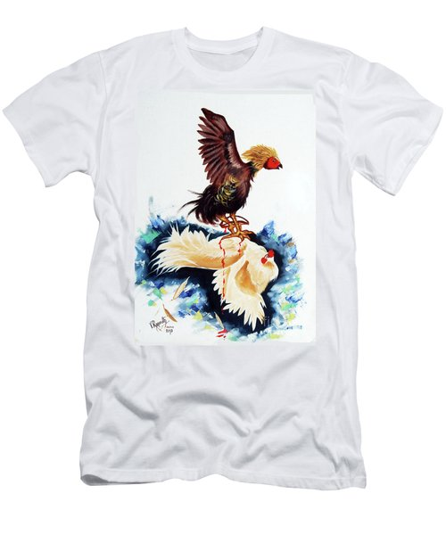 Cock Fighting Men's T-Shirt (Athletic Fit)