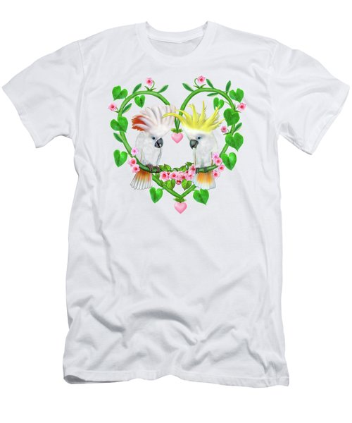 Cockatoos Of The Heart Men's T-Shirt (Slim Fit) by Glenn Holbrook
