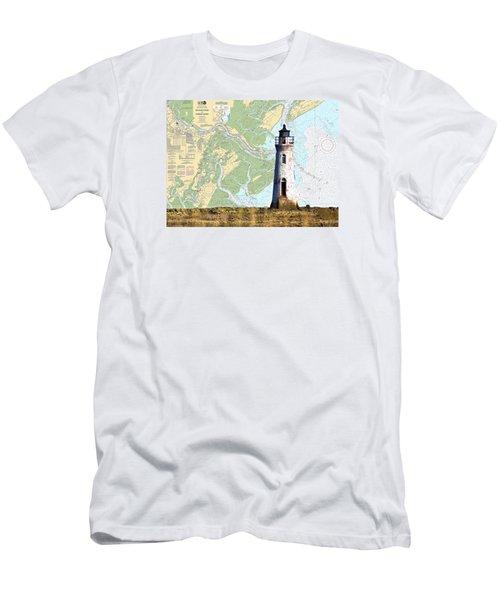 Cockspur On Navigation Chart Men's T-Shirt (Athletic Fit)