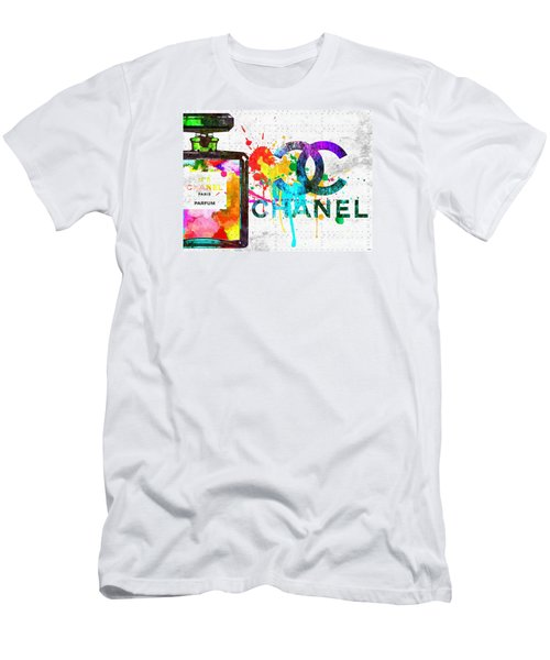 Coco Chanel No. 5 Grunge Men's T-Shirt (Slim Fit) by Daniel Janda