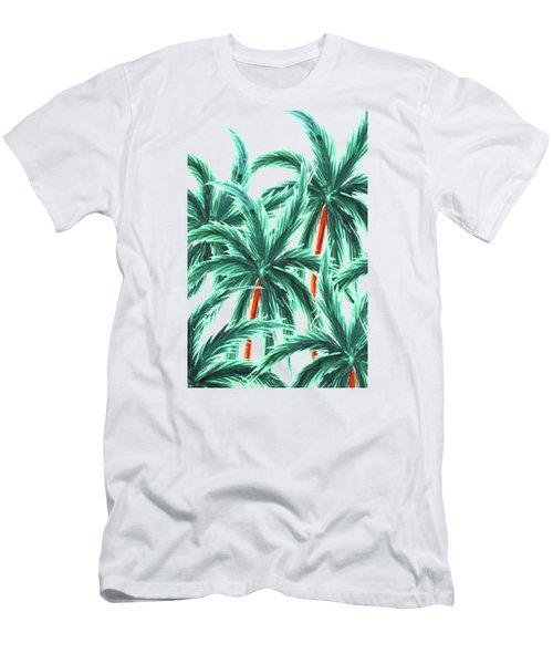 Coconut Trees Men's T-Shirt (Slim Fit) by Uma Gokhale