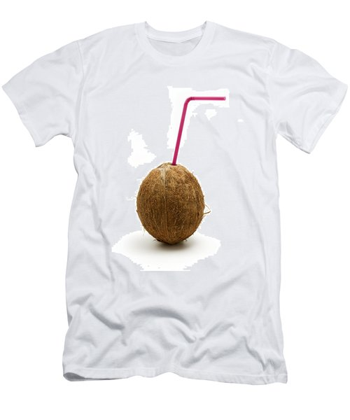 Coconut With A Straw Men's T-Shirt (Athletic Fit)