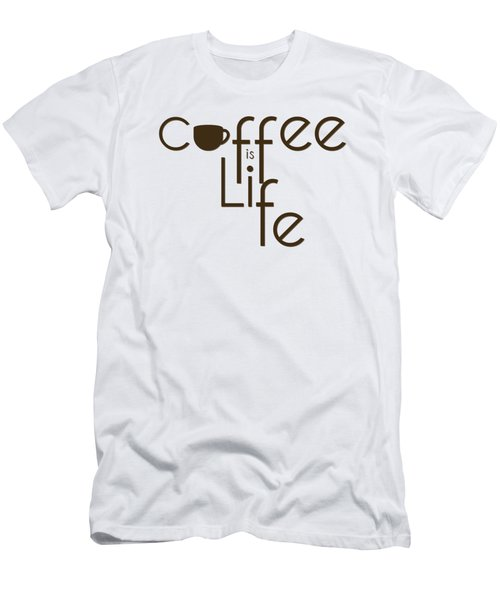 Coffee Is Life #3 Men's T-Shirt (Slim Fit) by Nola Lee Kelsey