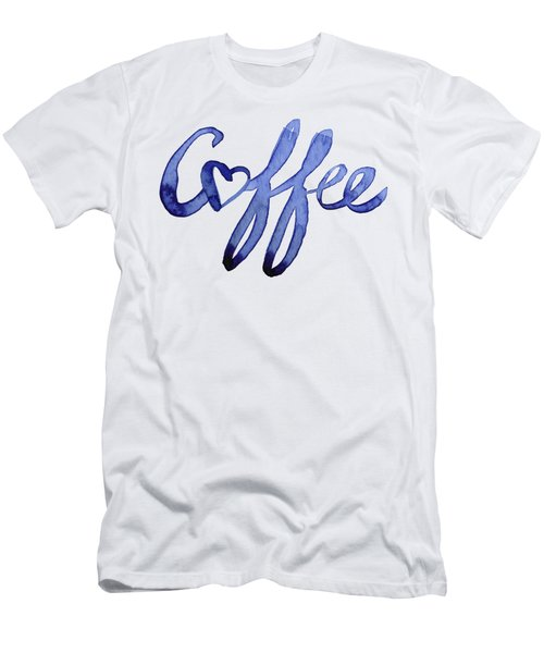 Coffee Love Typography Men's T-Shirt (Athletic Fit)