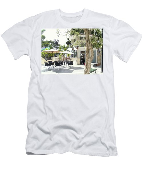 Coffee Lover's Expresso Bar At The Moll Boscana Town Square Men's T-Shirt (Athletic Fit)