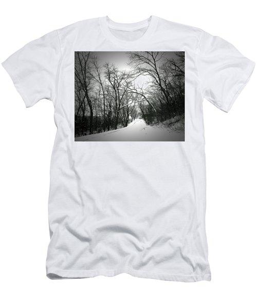 Cold Black Road Men's T-Shirt (Athletic Fit)