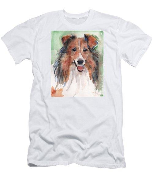 Collie, Shetland Sheepdog Men's T-Shirt (Slim Fit) by Maria's Watercolor
