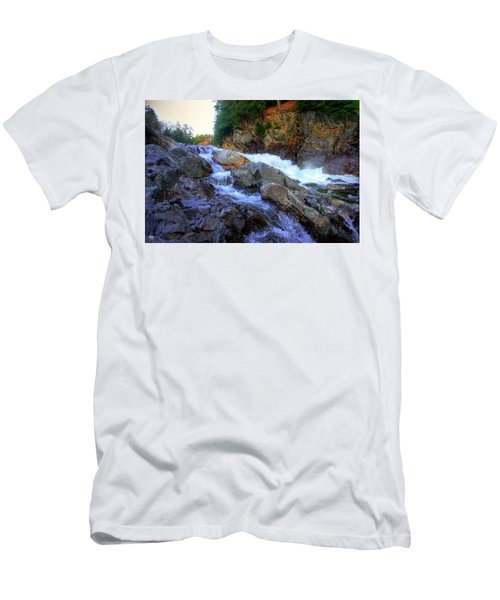 Men's T-Shirt (Athletic Fit) featuring the photograph Color Steps At Livermore Falls by Wayne King