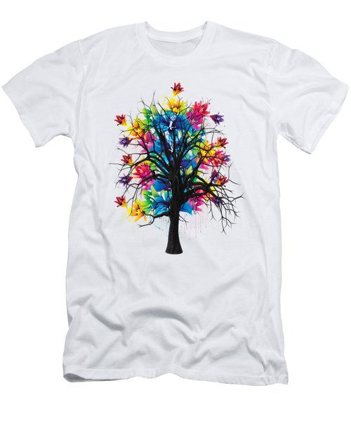 Color Tree Collection Men's T-Shirt (Slim Fit) by Marvin Blaine