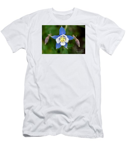 Men's T-Shirt (Slim Fit) featuring the photograph Colorado Blue by Sandy Molinaro