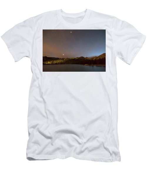 Men's T-Shirt (Athletic Fit) featuring the photograph Colorado Indian Peaks Stellar Night by James BO Insogna