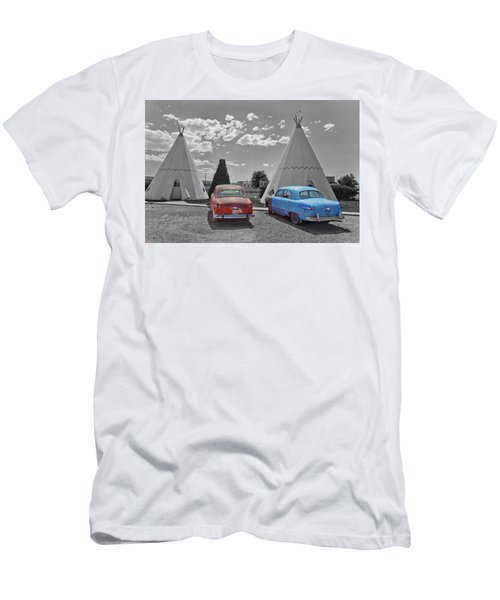 Colored Cars And Tee Pee Motel--holbrook Men's T-Shirt (Athletic Fit)