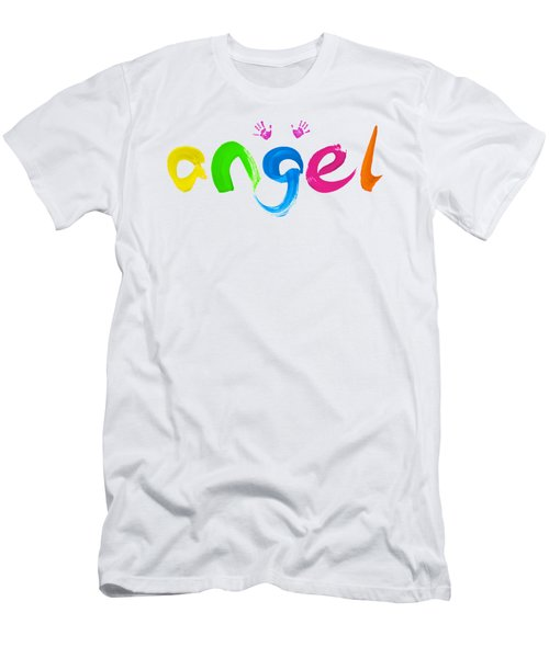 Colorful Angel Men's T-Shirt (Athletic Fit)