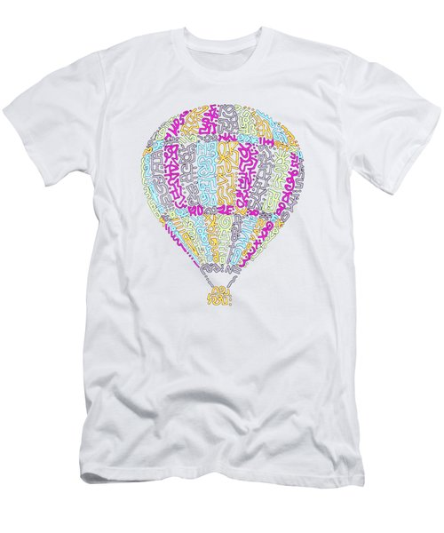 Colorful Baloon Men's T-Shirt (Athletic Fit)