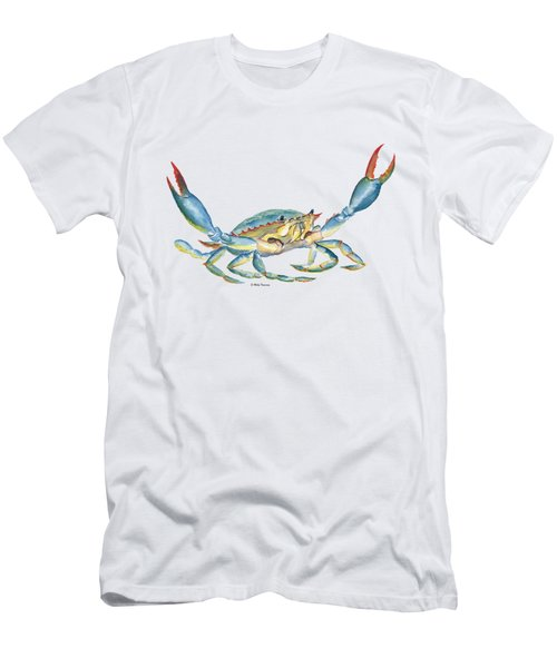Colorful Blue Crab Men's T-Shirt (Athletic Fit)