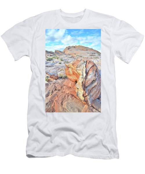 Colorful Boulder At Valley Of Fire Men's T-Shirt (Athletic Fit)