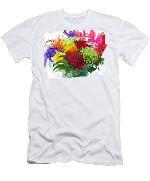 Colorful Bouquet Men's T-Shirt (Slim Fit)