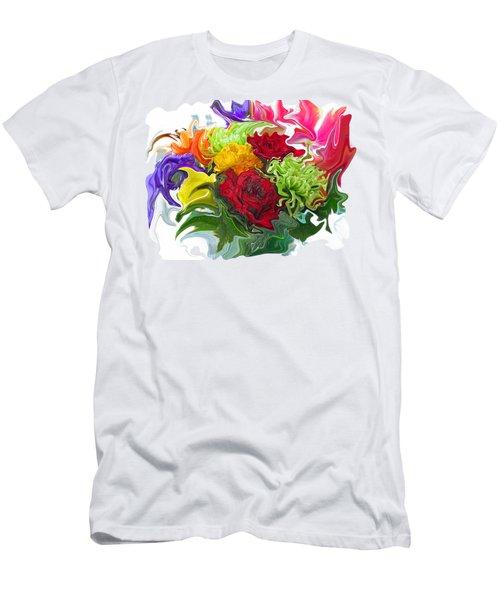 Colorful Bouquet Men's T-Shirt (Athletic Fit)