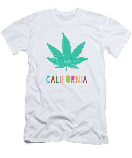 Colorful California Cannabis- Art By Linda Woods Men's T-Shirt (Athletic Fit)