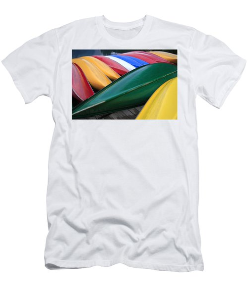 Colorful Canoes Men's T-Shirt (Athletic Fit)