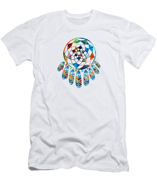 Colorful Dream Catcher By Sharon Cummings Men's T-Shirt (Athletic Fit)