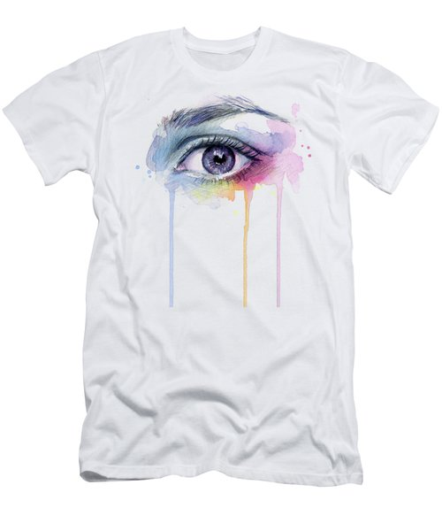 Colorful Dripping Eye Men's T-Shirt (Athletic Fit)