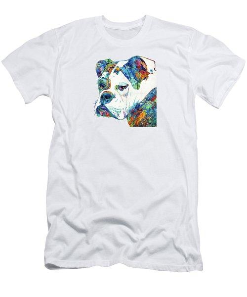 Colorful English Bulldog Art By Sharon Cummings Men's T-Shirt (Athletic Fit)