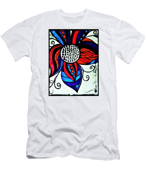 Colorful Flower Men's T-Shirt (Athletic Fit)